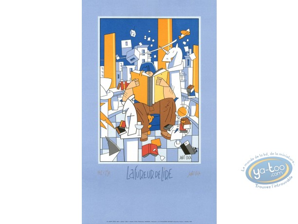 Serigraph Print, Mad about reading