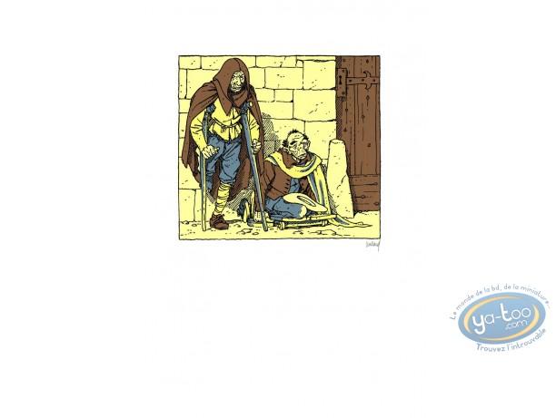 Serigraph Print, Quelque Chose de Bleu : Beggars