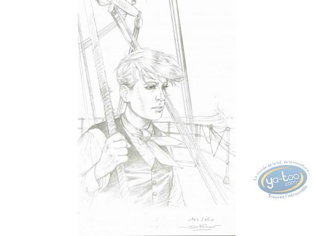 Bookplate Offset, Fabien M : At Sea