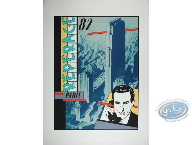 Serigraph Print, Gloria Spontex : Phone (little marks in the paper)