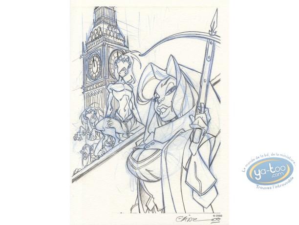 Bookplate Offset, Atalante : Warrior b&w