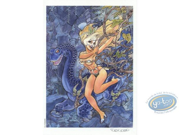 Bookplate Offset, Marlysa : Danard, Marlysa and Dragon