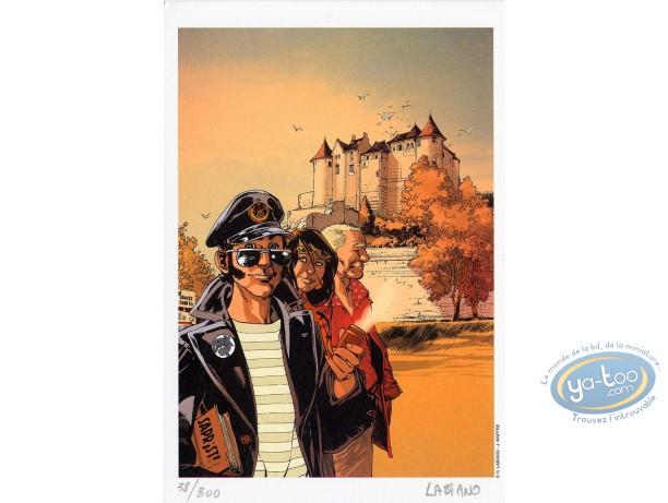 Bookplate Offset, Black Op : Castle