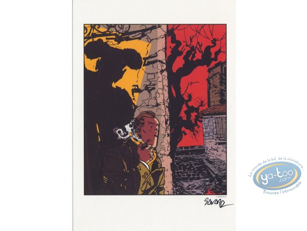 Bookplate Offset, Dick Hérisson : The shadow of the torero