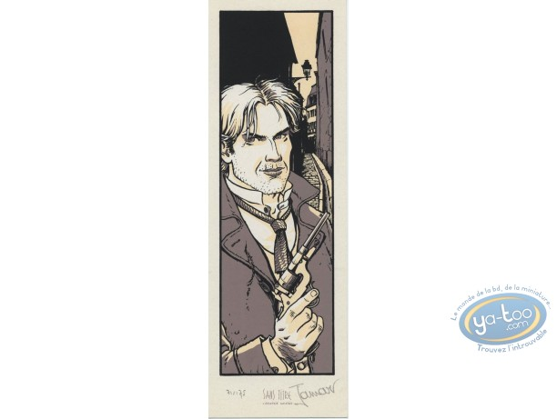 Bookplate Serigraph, Voleurs d'Empires (Les) : Man with gun