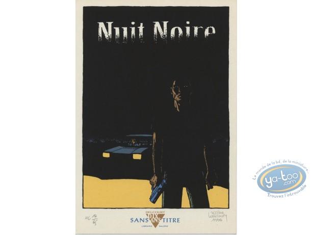Bookplate Serigraph, Nuit Noire : Nuit noire