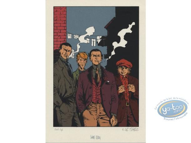 Bookplate Serigraph, Ce qui est à Nous : The Gang