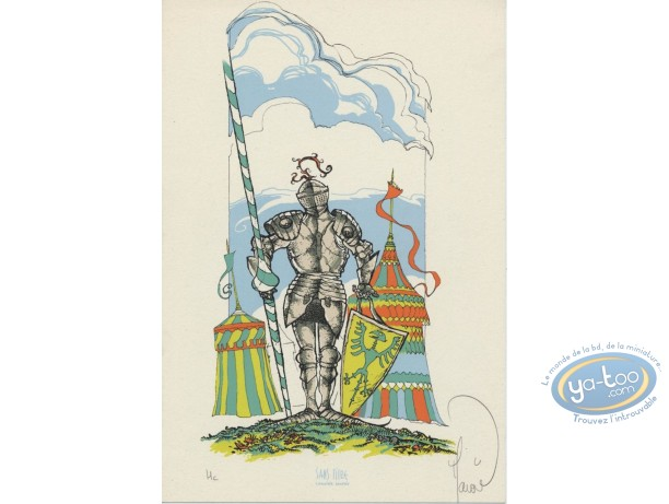 Bookplate Serigraph, Garulfo : Knight