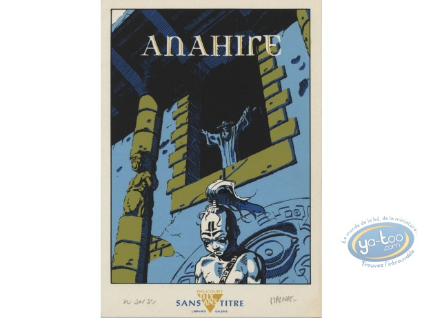 Bookplate Serigraph, Anahire : Malnati, Anahire