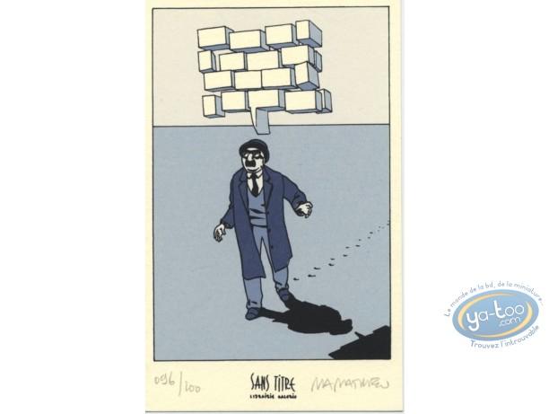 Bookplate Serigraph, Julius Corentin Acquefacques : Man Walking