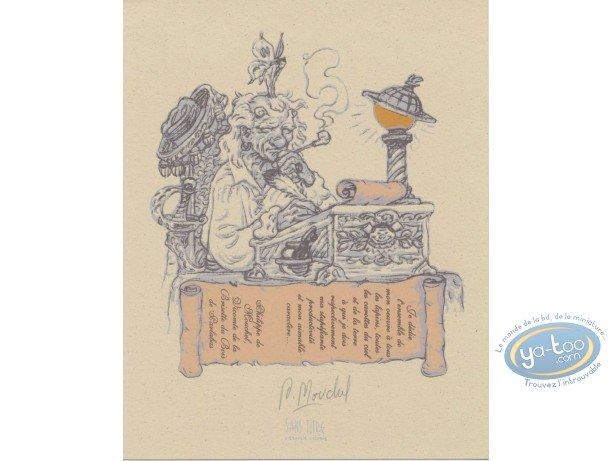 Bookplate Serigraph, Mur de Pan (Le) : Old Man