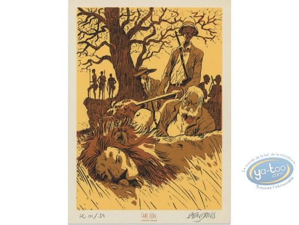 Bookplate Serigraph, Labyrinthes : Safari