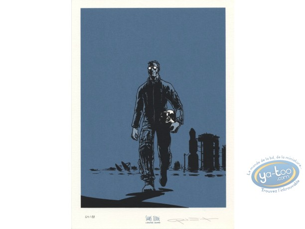 Bookplate Serigraph, Travis : Pilot