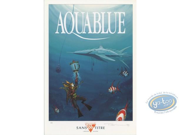 Bookplate Offset, Aquablue : Tribute to Aquablue
