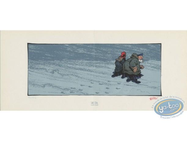 Bookplate Serigraph, Odilon Verjus : Walking on the Snow