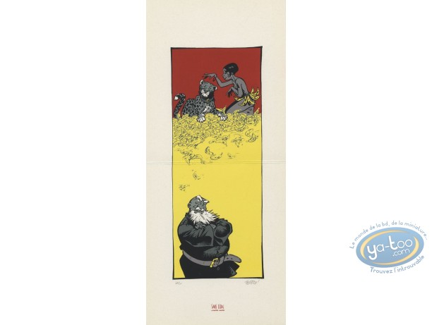 Bookplate Serigraph, Odilon Verjus : Josephine Baker & bananas
