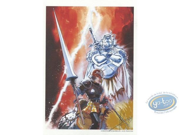 Bookplate Offset, Nuit Safran : Warrior and spirit