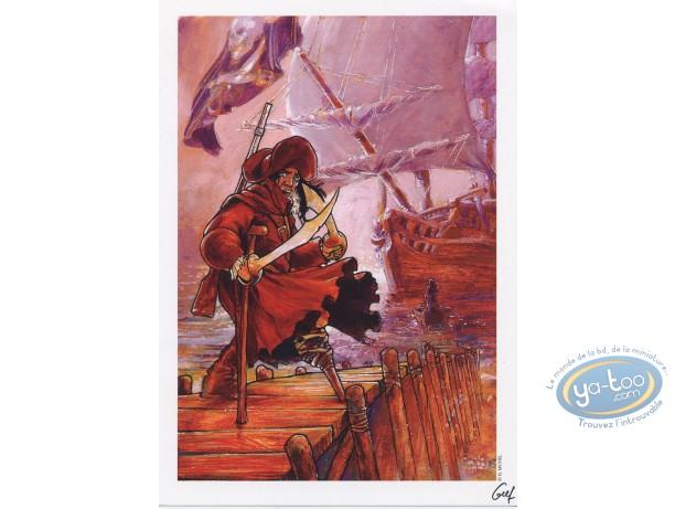Bookplate Offset, Sang du Dragon (Le) : Wooden leg