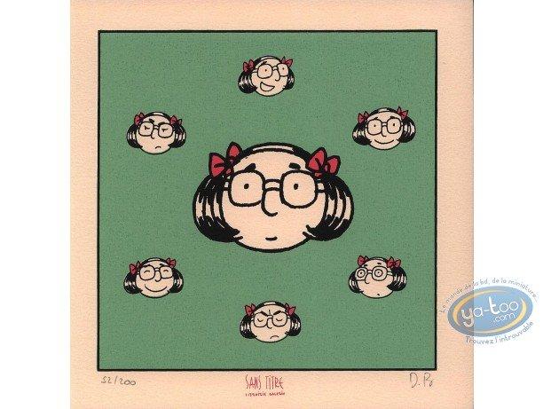Bookplate Serigraph, Henriette : Heads