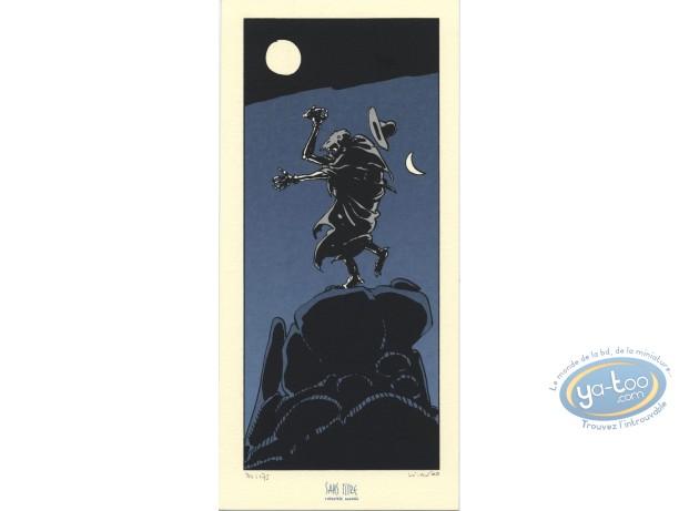 Bookplate Serigraph, Cycle de Tschai (Le) : The Night