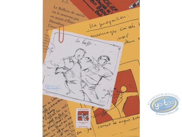 Bookplate Serigraph, Réflexe de Survie (Le) : La baffe