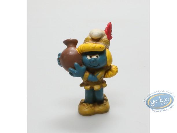 Plastic Figurine, Smurfs (The) : Smurfette indian  - 1983