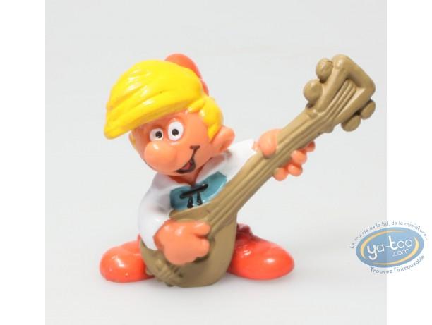 Plastic Figurine, Smurfs (The) : Pirlouit joue du luth