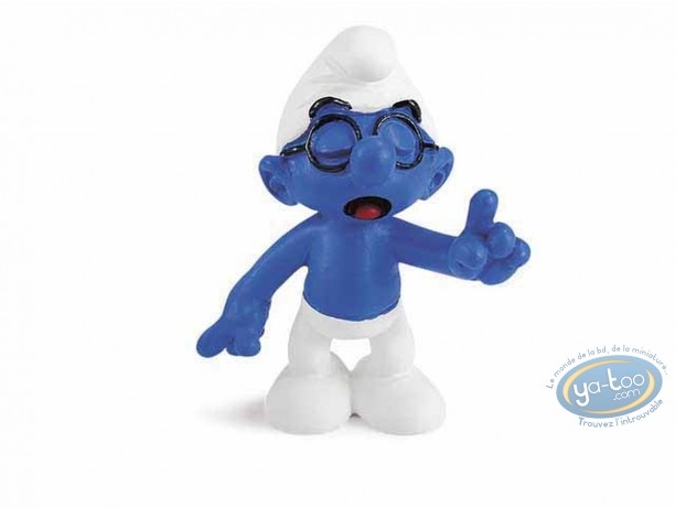 Plastic Figurine, Smurfs (The) : Smurf with glasses