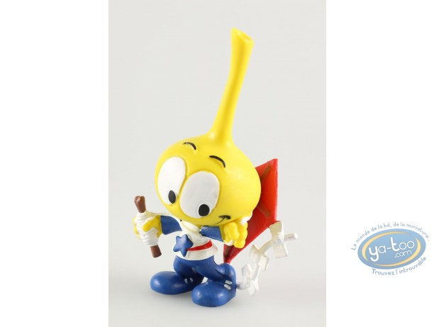 Plastic Figurine, Snorkies (Les) : Astral' yellow Snork with a star, playing with a kite