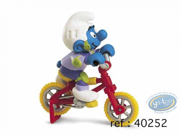 Plastic Figurine, Smurfs (The) : Smurf freestyle bike