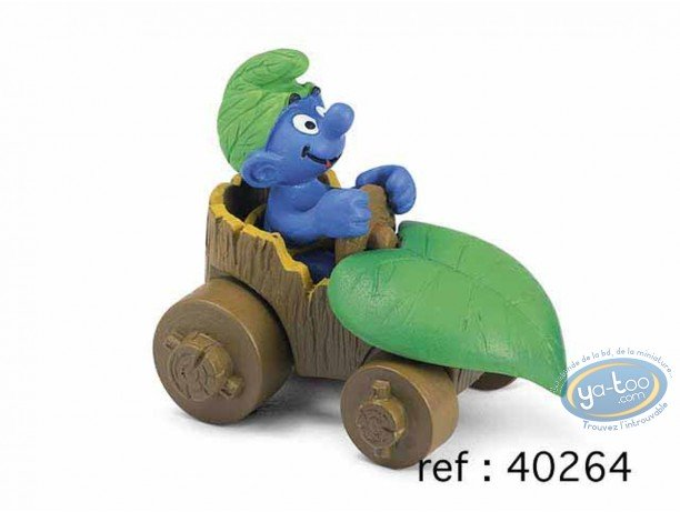 Plastic Figurine, Smurfs (The) : Smurf in car