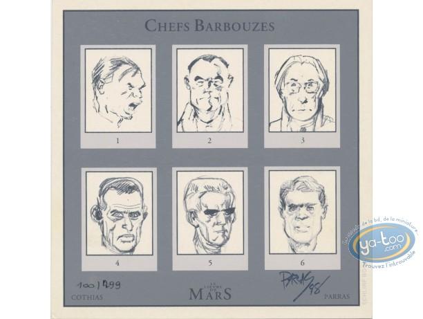 Bookplate Serigraph, Lièvre de Mars (Le) : Chefs Barbouzes