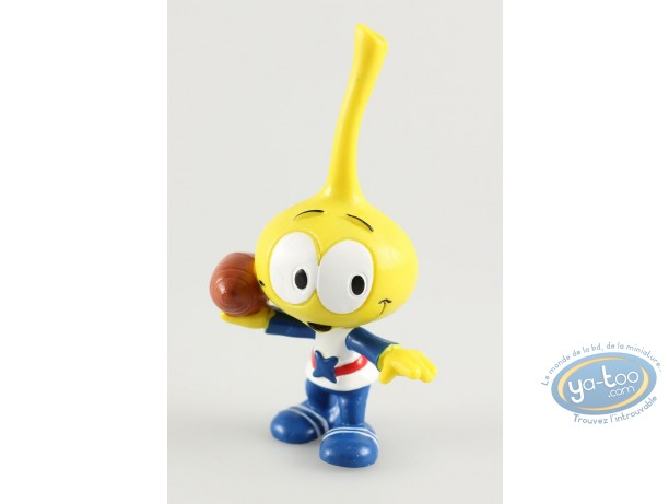 Plastic Figurine, Snorkies (Les) : Astral' yellow Snork with a star, football player