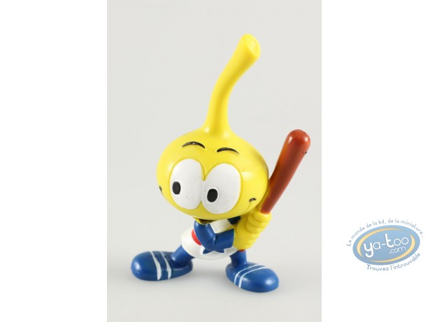 Plastic Figurine, Snorkies (Les) : Astral' yellow Snork with a star, baseball player