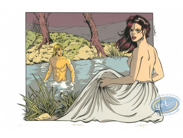 Serigraph Print, Dampierre : The Bath
