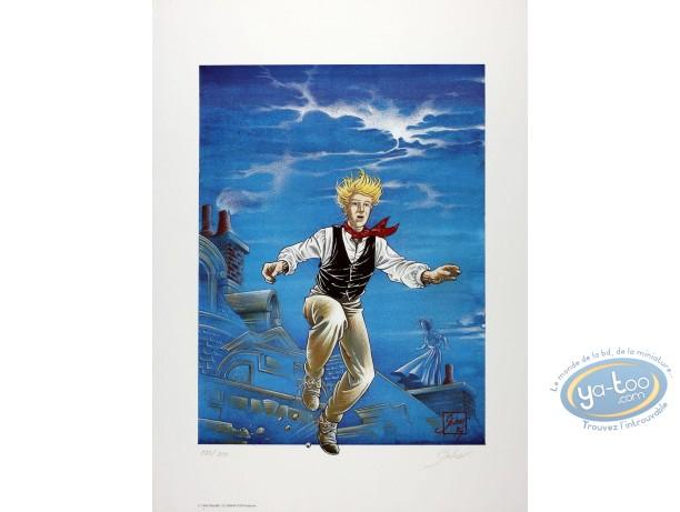 Offset Print, Fabien M : Fabien M jumping from a roof
