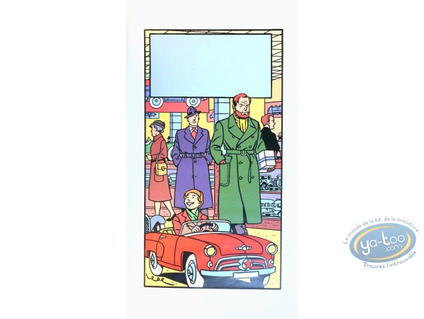 Serigraph Print, Blake and Mortimer : The Toy Shop (without text)