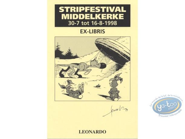 Bookplate Offset, Rantanplan : Léonardo, Rantanplan et les lapins