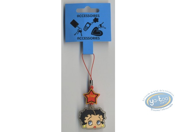 Mobile Accessory, Betty Boop : PVC GSM pendant : Betty Boop.