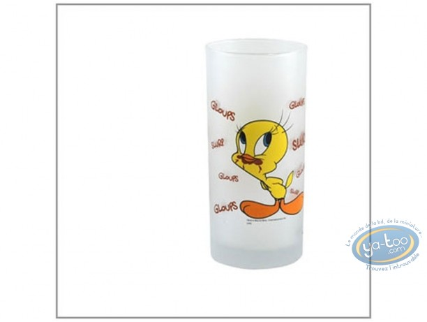 Tableware, Titi : Water glass, Tweety & Sylvester chocolate