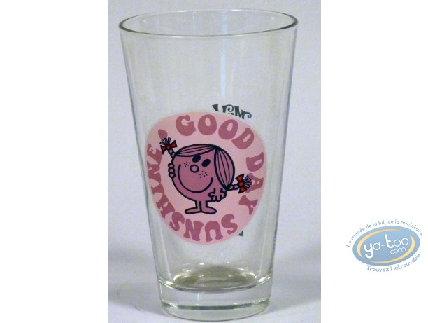 Tableware,  Mr. Men and Little Miss : Conical glass, Little Miss Sunshine (pink)