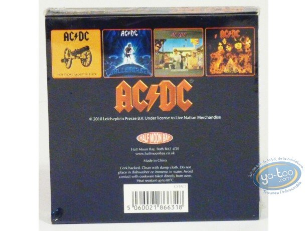 Tableware, AC / DC : Set of 4 coaster, AC/DC