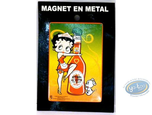 Magnet, Betty Boop : Metal magnet Betty-Boop.