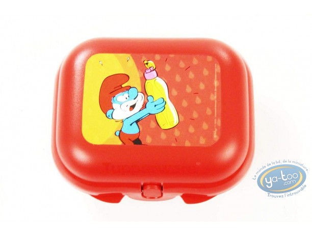 Tableware, Smurfs (The) : Lunch box TUPPERWARE Smurf - Small model