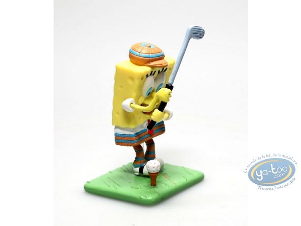 Plastic Figurine, Sponge Bob : Sponge Bob Golfl