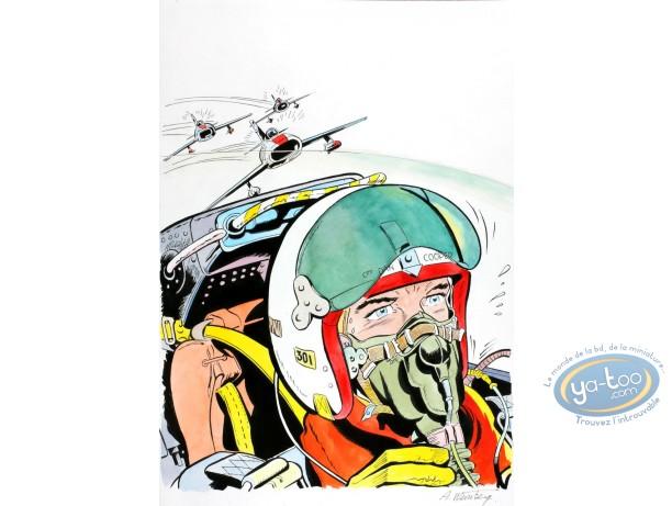 Aquarelle, Dan Cooper : L'Escadrille des Jaguars 2
