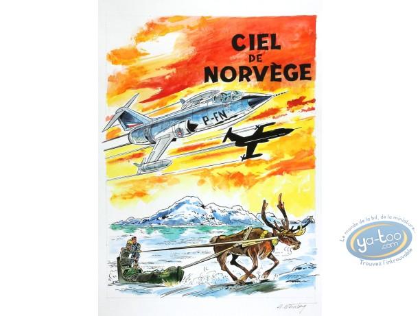 Aquarelle, Dan Cooper :  Ciel de Norvège