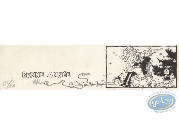 Bookplate Serigraph, Femmes de Will (Les) : Will, Bonne Année