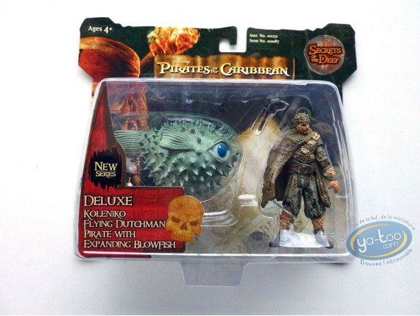 Action Figure, Pirates of the Caribbean : Koleniko Flying Dutchman Pirate with Expanding Blowfish
