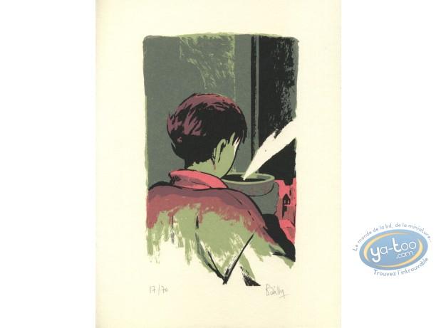 Bookplate Serigraph, Saison des Anguilles (La) : Coffee